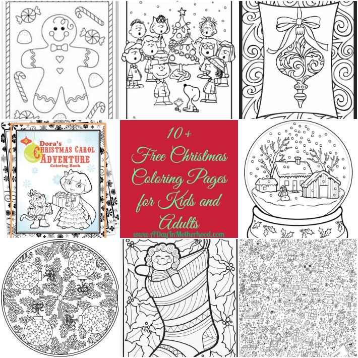Christmas Coloring Pages for adults and kids