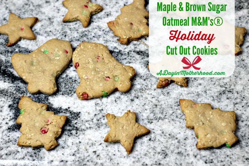 Maple Brown Sugar Oatmeal M M S Holiday Cut Out Cookies