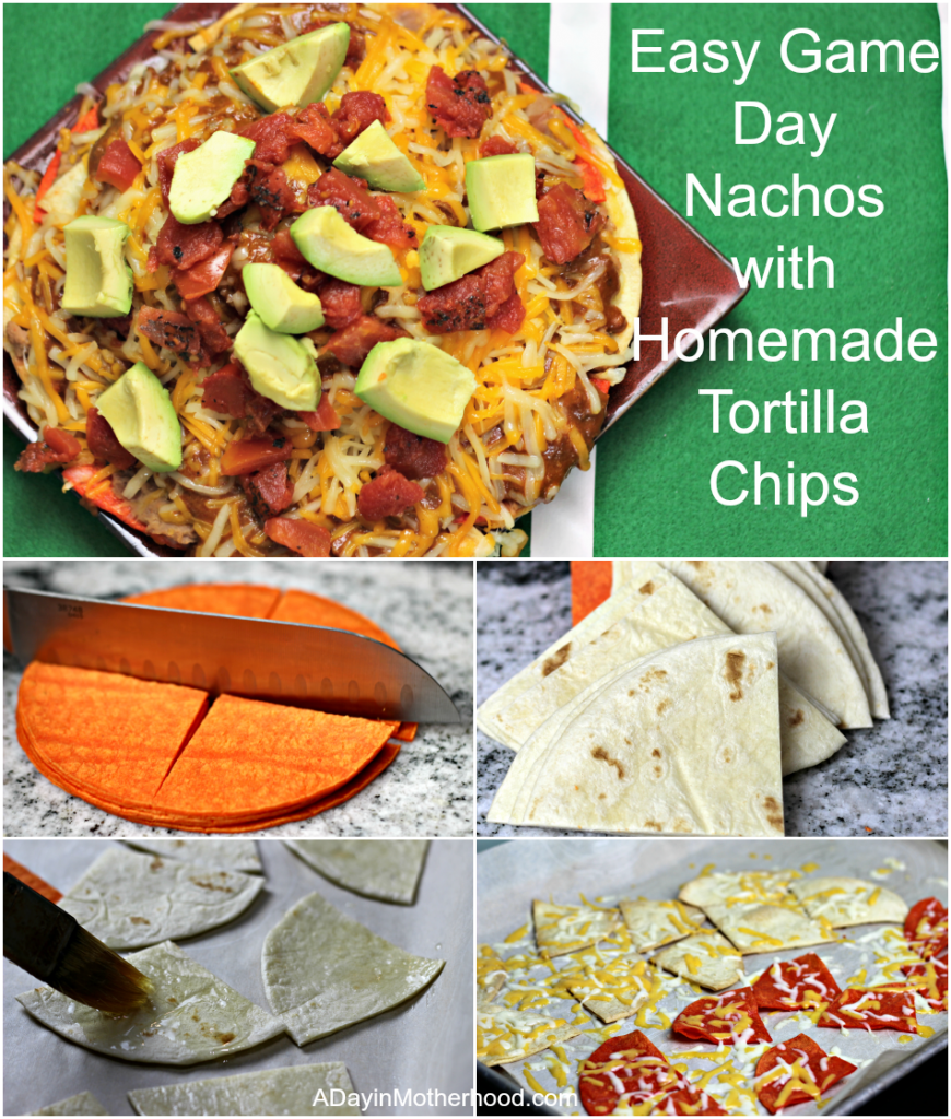 Easy Game Day Nachos with Homemade Tortilla Chips #YesYouCAN ad