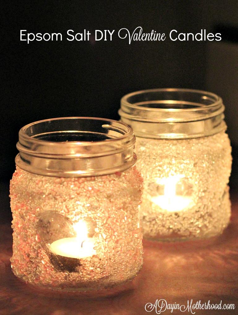 Epsom Salt DIY Valentine Candles