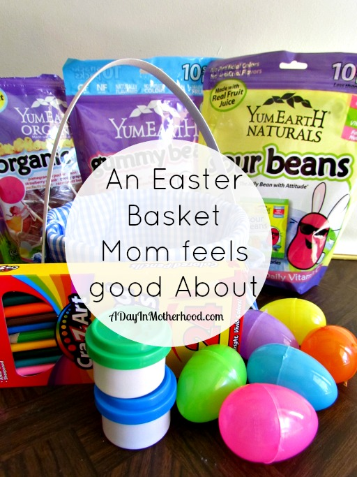 Easter baskets to feel good about and win 50 in yumearth easter goodies fill easter baskets with treats and toys moms everywhere can feel good about negle Images