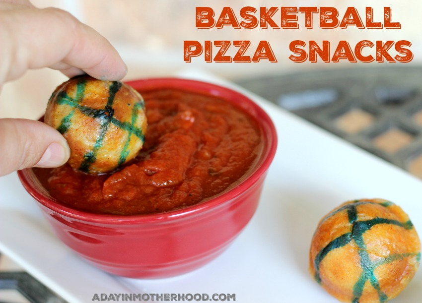 Basketball Pizza Snacks are a Slam Dunk #GameForBasketball ad