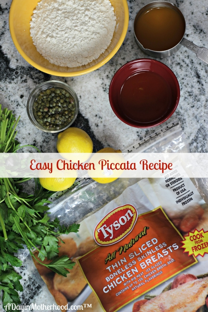 AD The ingredients needed for Easy Chicken Piccata are few. Basically, you bread the chicken and cook it, then add lemon and capers to make the sauce! So easy and delicious! #ThinSlicedChicken