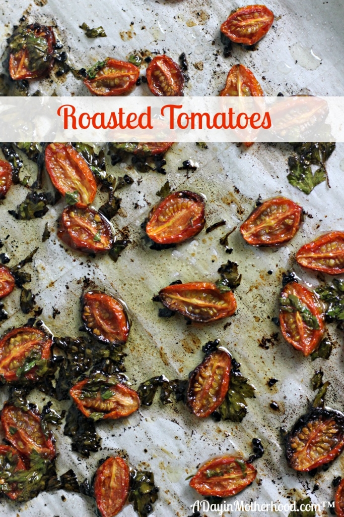 AD The roasted tomatoes recipes cooks while you make Easy Chicken Piccata. They add a smokey freshness to the entire meal! #ThinSlicedChicken