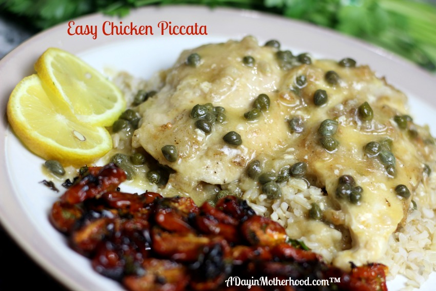 AD Make this dish easily with few ingredients and a creamy finish. The freshness of lemon and capers can be on your table faster with Tyson Thin Sliced Chicken Breasts found at Walmart! #ThinSlicedChicken