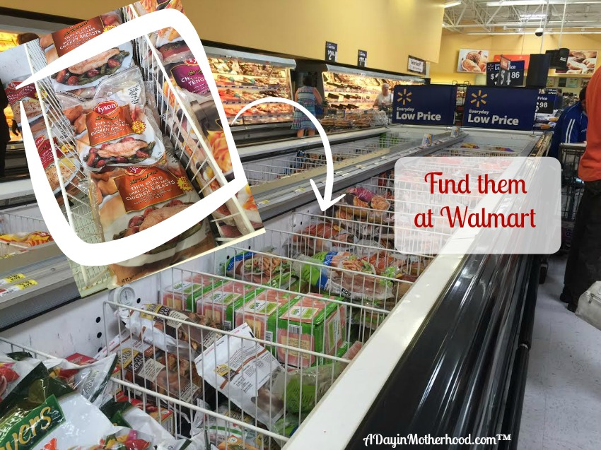 AD Shop at Walmart for Tyson Thin Sliced Individually Frozen Chicken Breasts! They are in the Tyson container! #ThinSlicedChicken