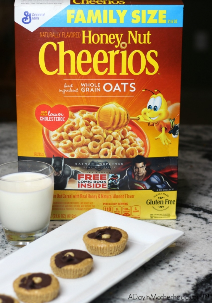 Creating the most delicious recipes can come from quality ingredients! Honey Nut Cheerios adds a crisp to the Chocolate Peanut Butter Cheerios Cups that you will love!
