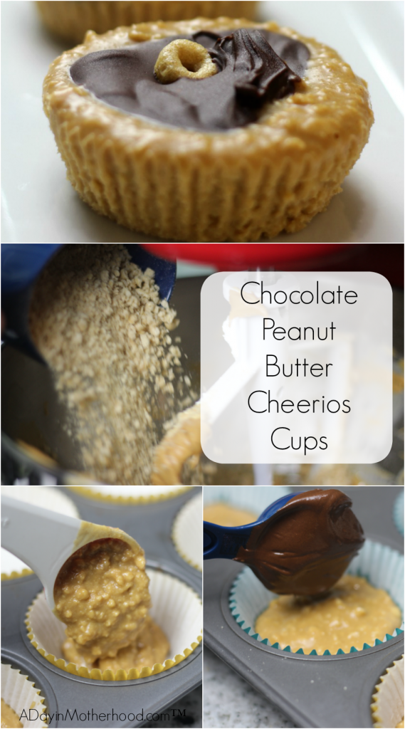 Just ground, mix, fill your cupcake liners and top with chocolate! After a few hours in the fridge, your Chocolate Peanut Butter Cheerios Cups recipe is ready to enjoy!