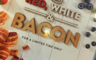 It is Red, White and Bacon time at Denny's! Check out the New Honey Jalapeno Bacon and the creations that you have to have!