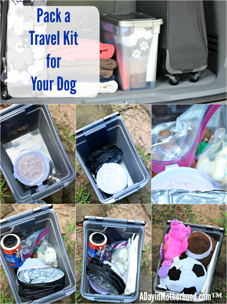 Pack everything your dogs need to travel in style and comfort in one container for easy access! Don't forget the water! #PawsToSavor ad