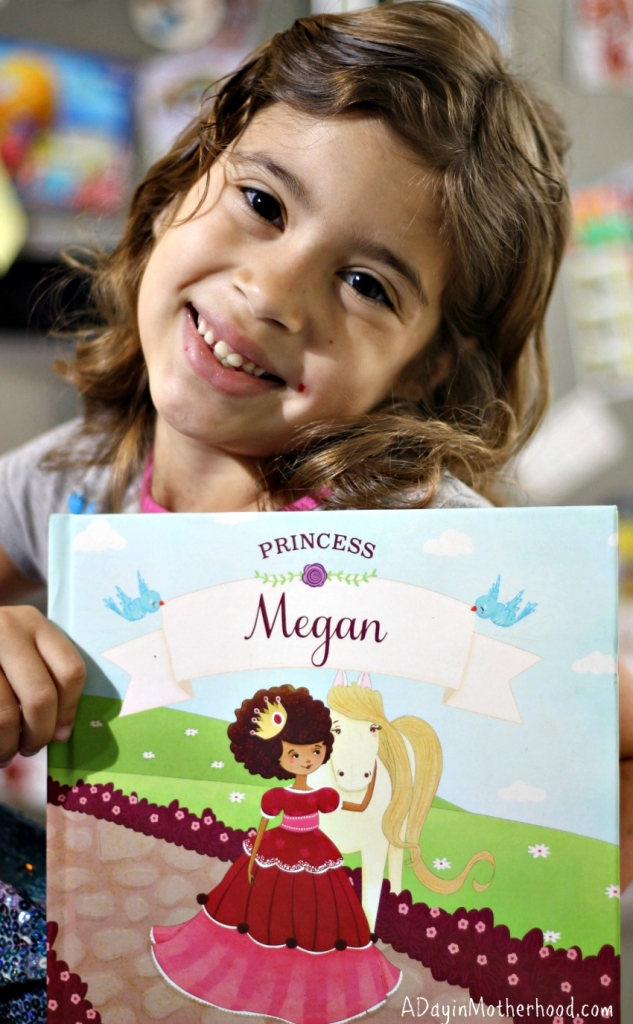 Megan was so excited to receive a book that is all about her and the things she loves! #iseemebooks