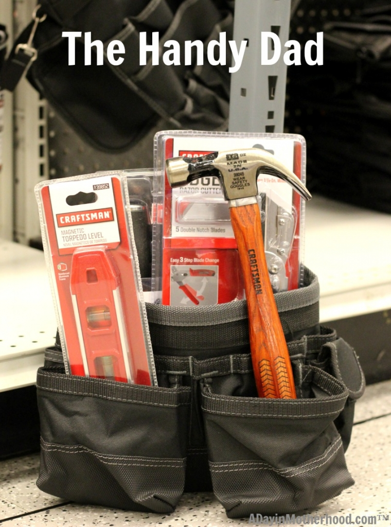 Stuff a tool belt with hand tools for a twist on the classic Father's Day gift! Any handy man needs updated tools all the time!