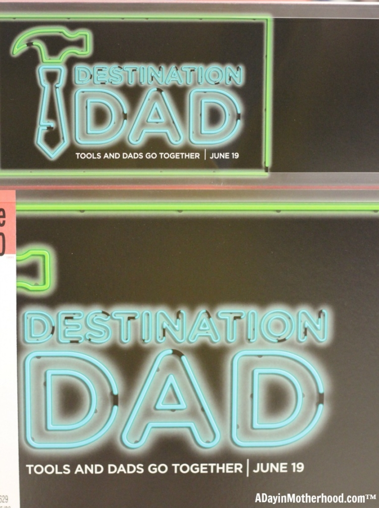 Destination Dad means that any kind of dad can get any kind of gift! Tech, lawn, work-out stuff and more can be found at Sears!