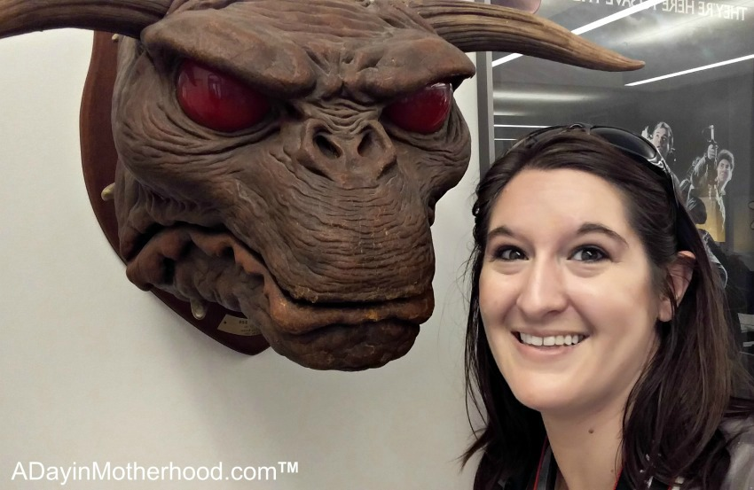 Coming face-to-face with the Beast from the classic #Ghostbusters movie! #Ghostbloggers #ad