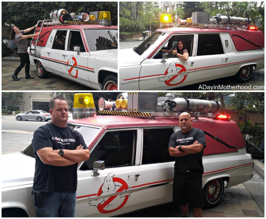 Checking out the Ecto-1 from the new Ghostbusters Movie #Ghostbusters #Ghostbloggers #ad