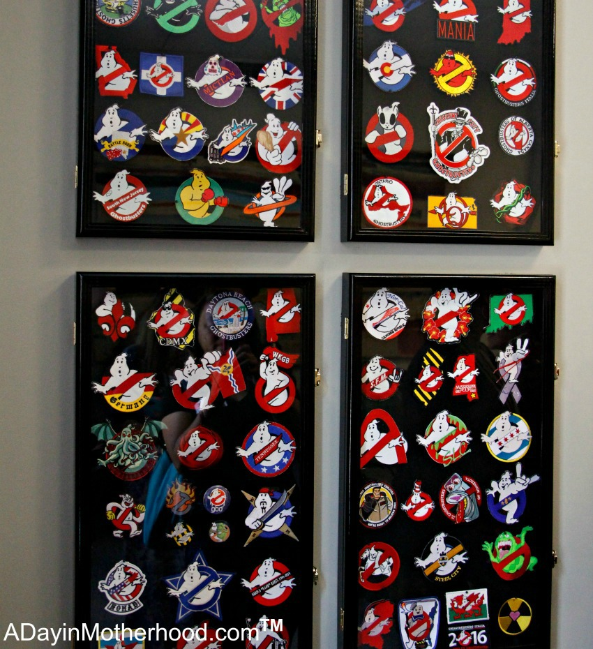 Lots of the Ghostbuster Badges for display at Ghost Corps. #Ghostbusters #Ghostbloggers #ad