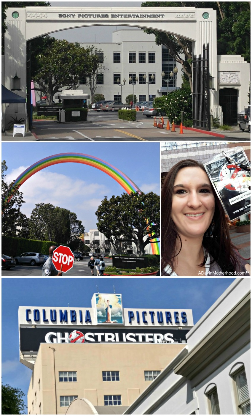 Tour of the Sony Lot and the Wizard of Oz Rainbow during the #Ghostbusters Junket. #Ghostbloggers #ad
