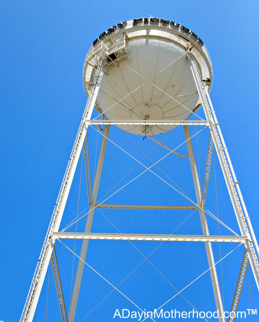 The Water Tower on Sony Lot and learning why they have one. #Ghostbusters #Ghostbloggers #ad