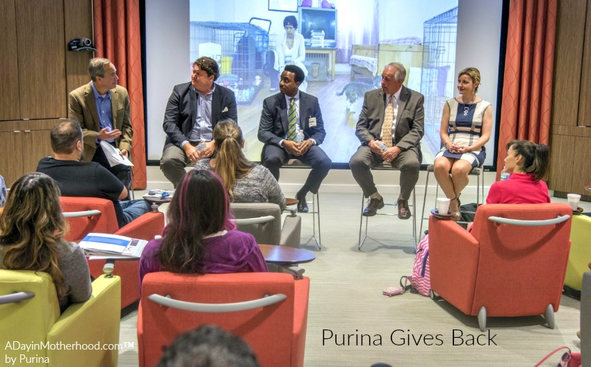 The panel talks about how Purina gives back in unexpected ways to the community. #MeetPurina ad