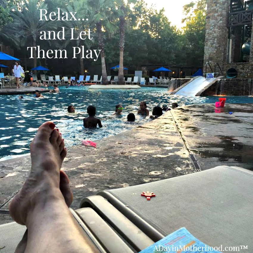 The pool offers beach style walk in and shallower waters for little swimmers #WoodlandsResort ad