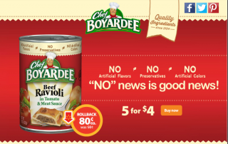 Check out this DEAL: Chef Boyardee is on Rollback for $.80 #SaveOnChef