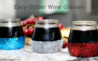 Red, White and Blue for Texas Charm glitter wine glasses!
