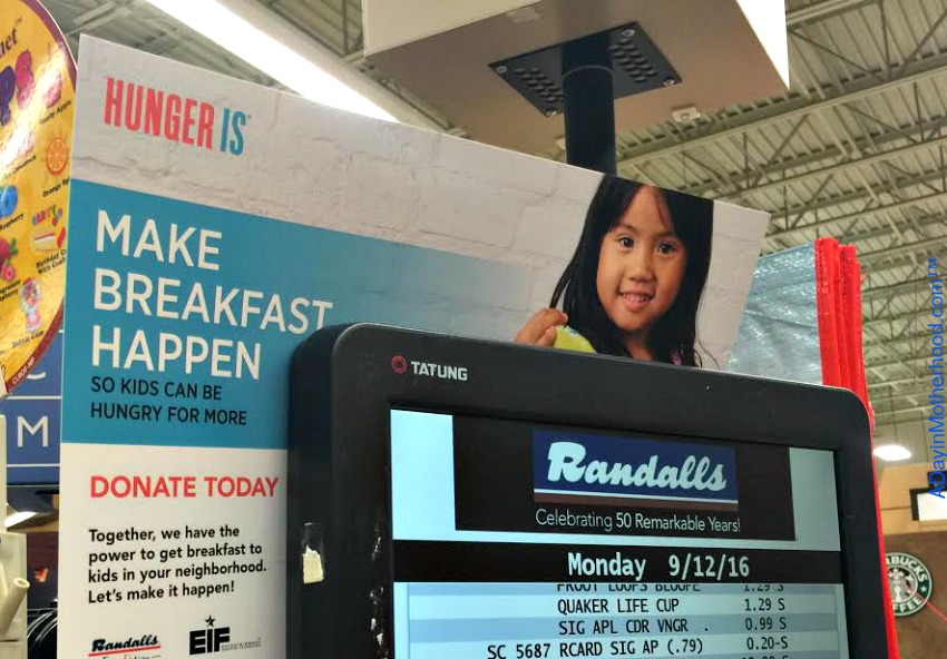 Hunger IS is helping by feeding kids in need.