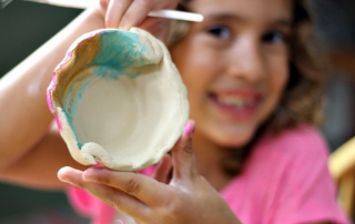 Kids can paint and create with pottery at home
