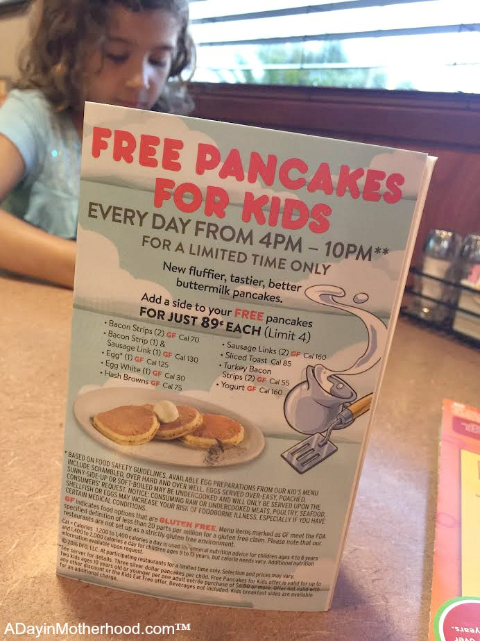 Get FREE Pancakes for kids 4 -10 at Denny's in September!