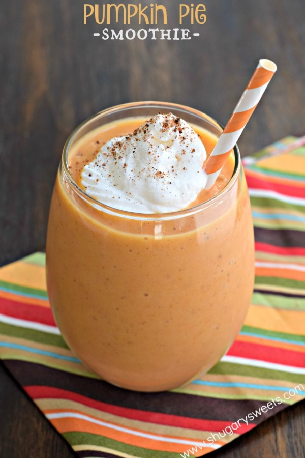 Pumpkin Pie Smoothie from Shugary Sweets
