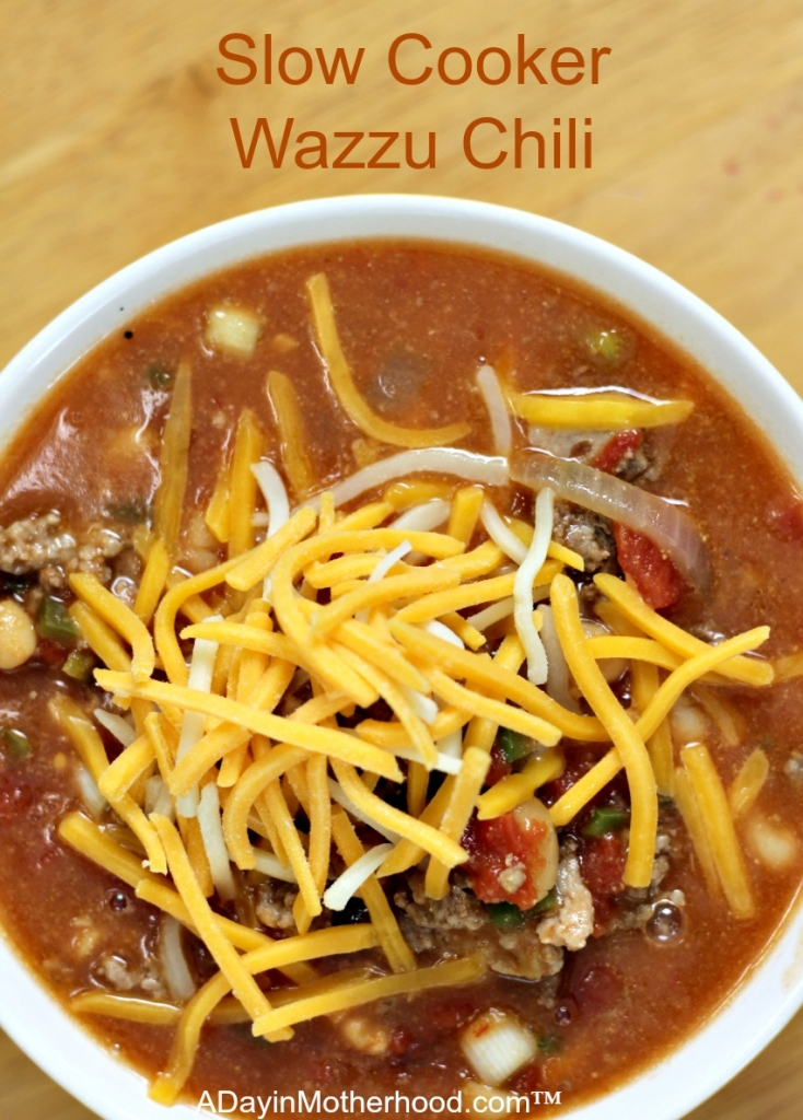 Slow Cooker Wazzu Chili will have your taste buds singing