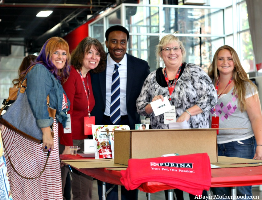 We helped stuff pet boxed for women who need to escape abuse with their pets at the Purina Better with Pets Summit