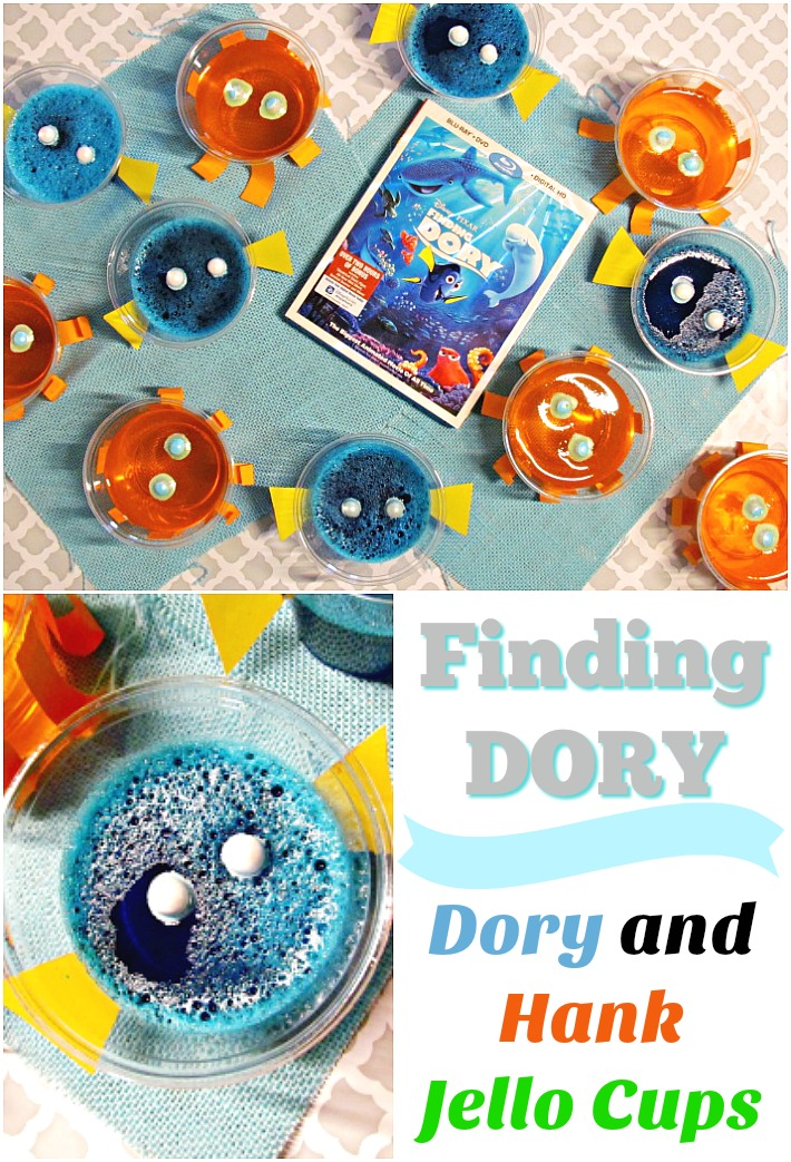 Watch Finding Dory with these Finding Dory Jello Cups