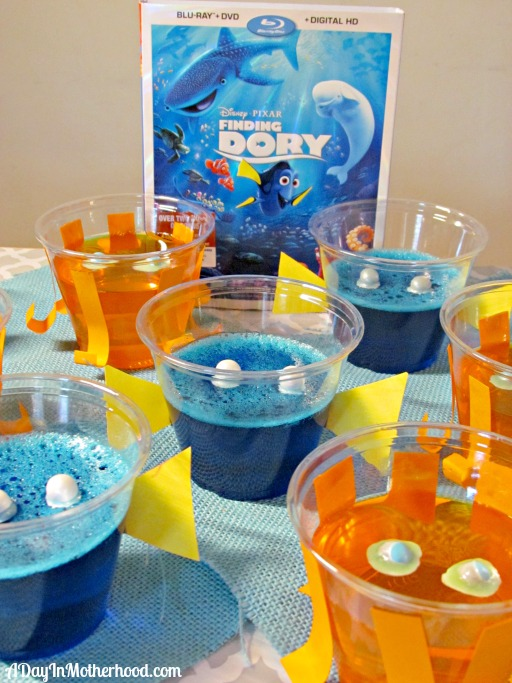 Reconnect with your favorite family of fish with these Finding Dory Jello Cups. ad