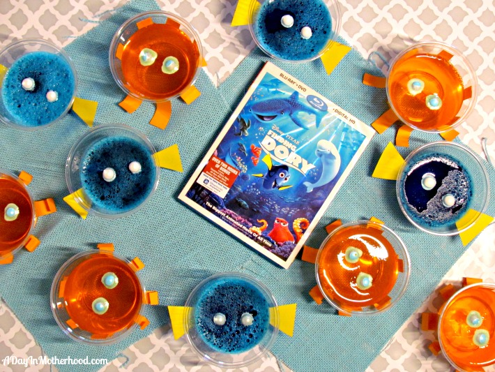 Finding Dory Jello cups featuring Dory and new friend Hank. ad