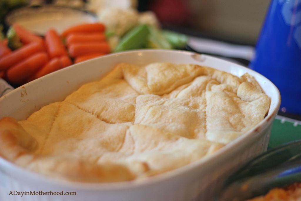 Easy Chicken Pot Pie Casserole is ready in a snap!