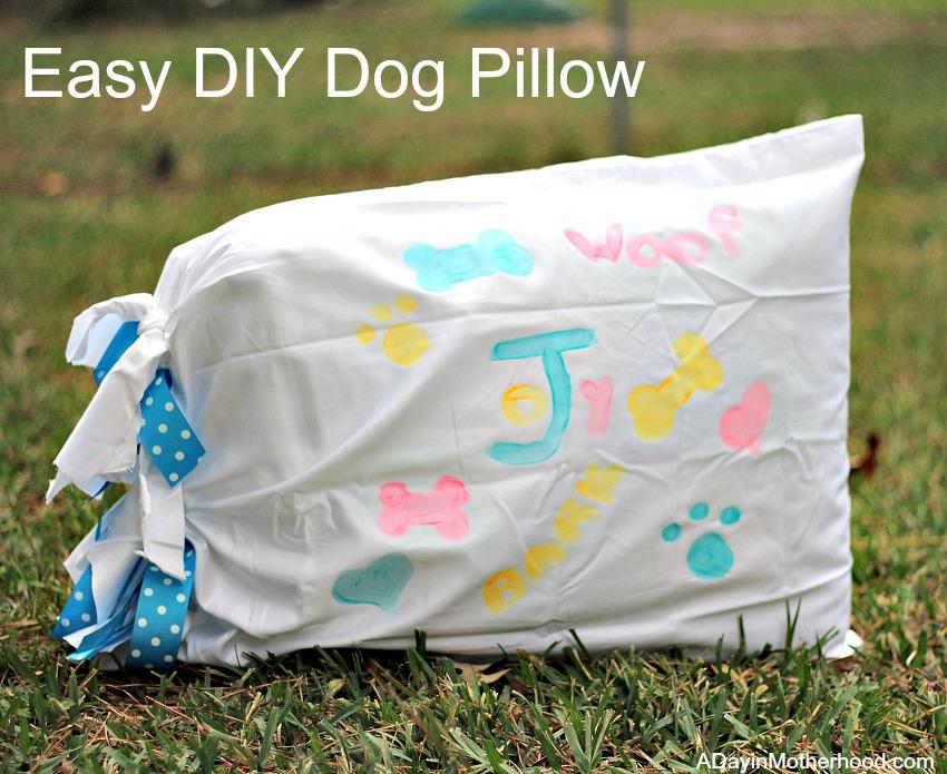 Make a DIY Dog Pillow easily!