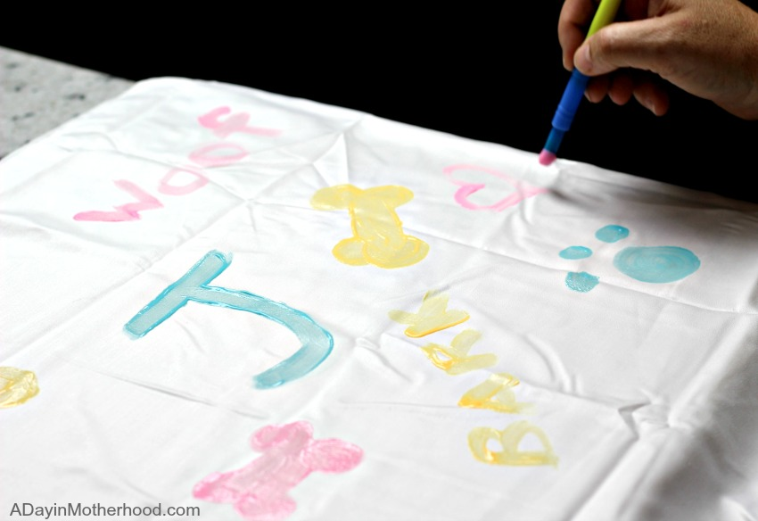 Paint your design on the DIY Dog Pillow