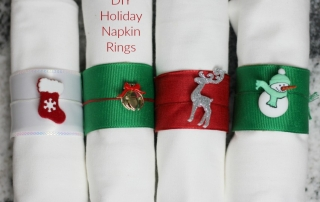DIY holiday Napkin rings are easy to do and use those Sparkle Paper Towel tubes you have left over!