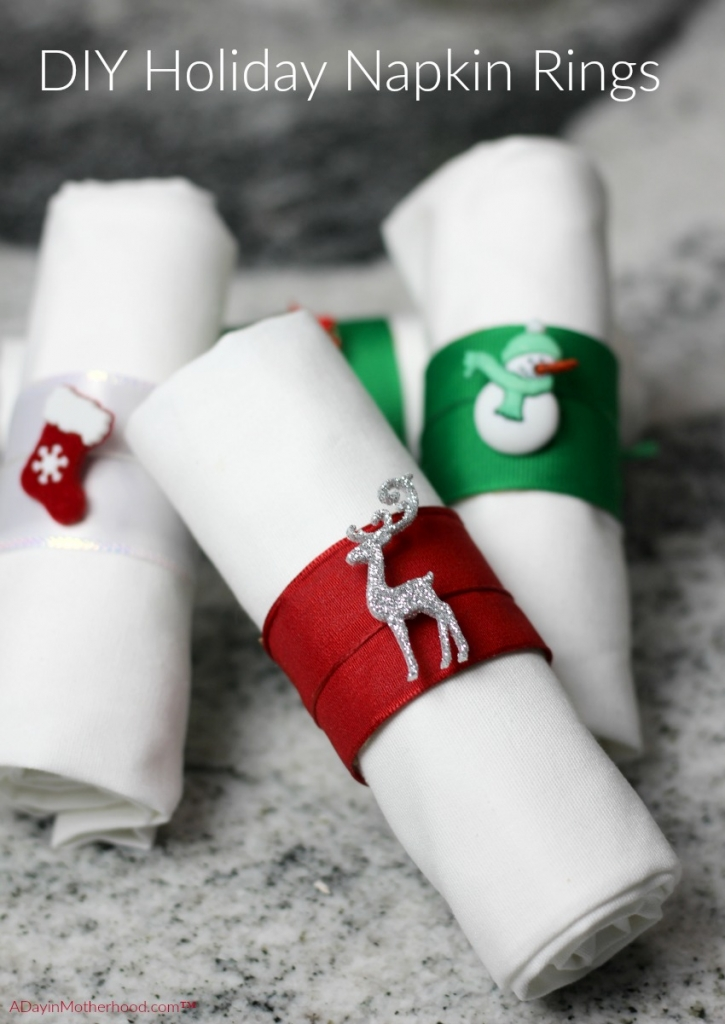 These DIY Holiday Napkin Rings are perfect to use your left over Angel Soft tubes on