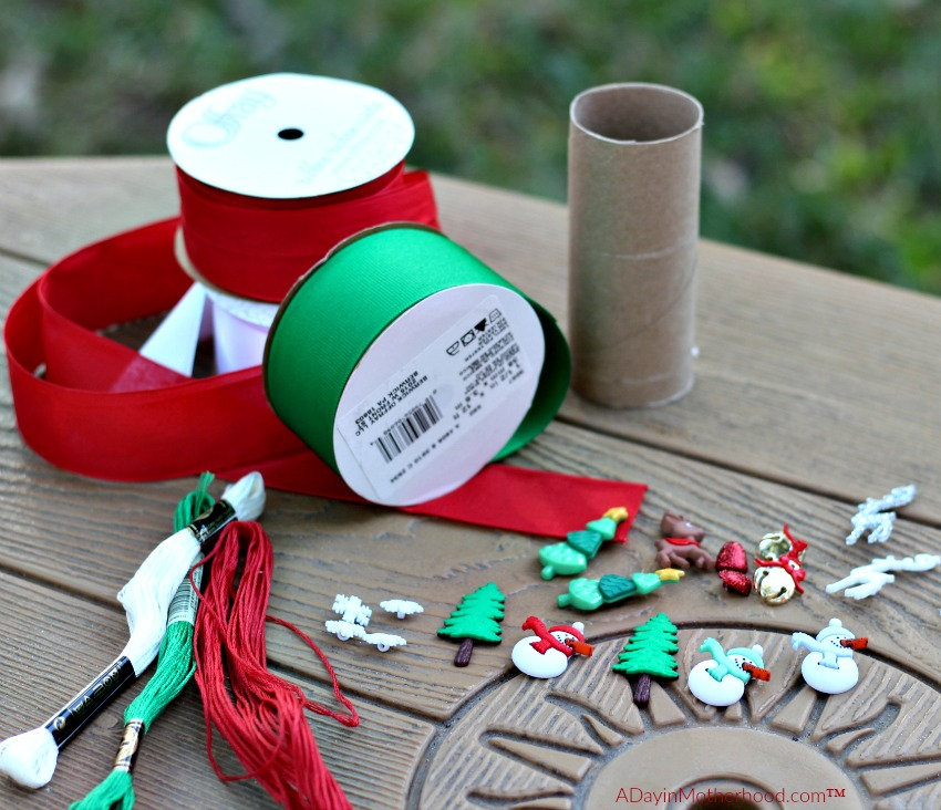 Gather the supplies for your DIY Holiday Napkin Rings