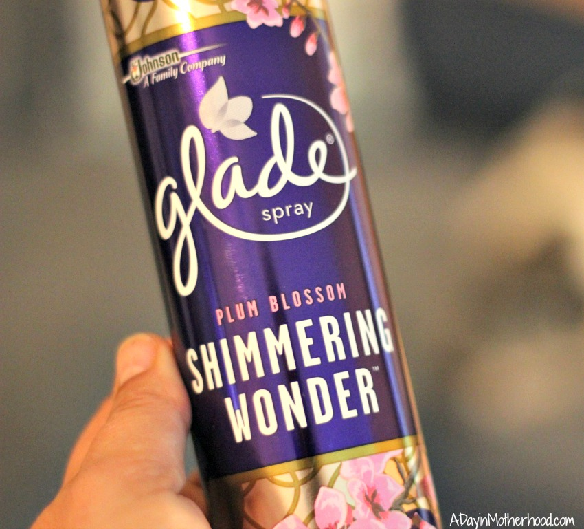 The Glade Room Spray adds a whimsical aroma to any room