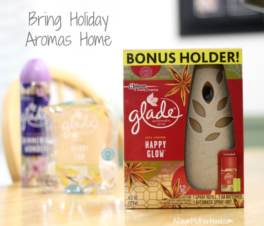 Warm your home with comfort foods like Slow Cooker Pumpkin Cobbler and Glade Holiday Scents