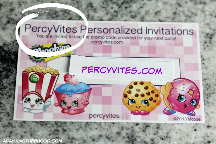 PercyVites helps plan a Shopkins Party easily