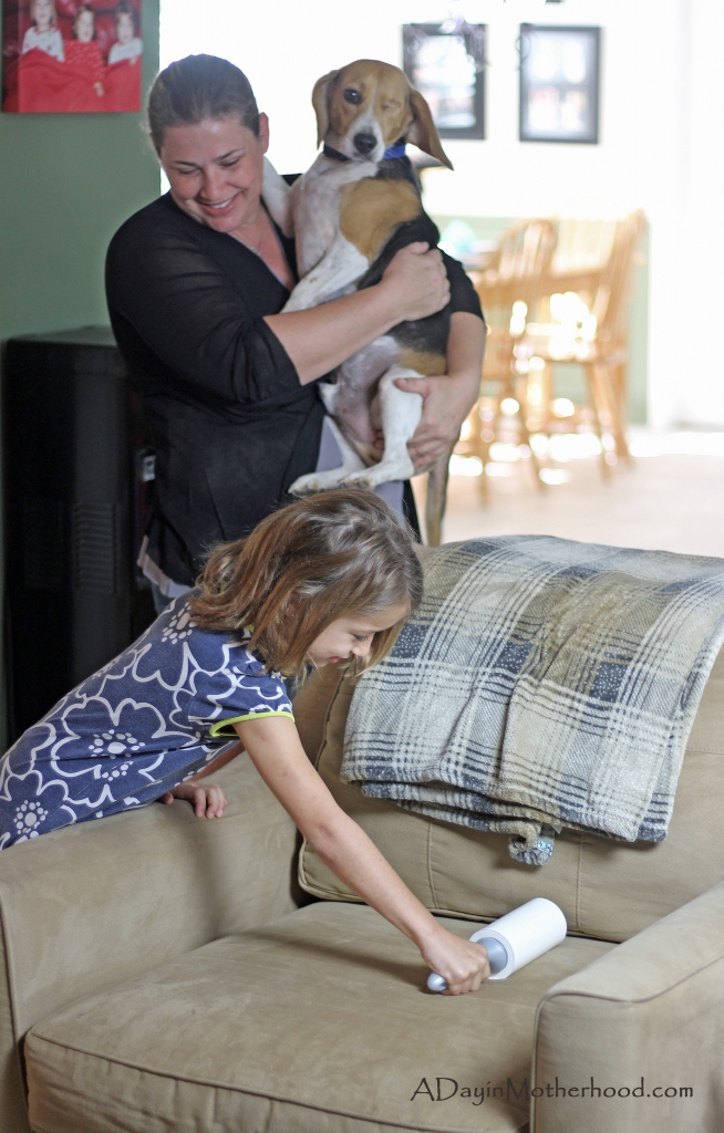 Getting the kids to help is a tip to keep your home clean with multiple pets