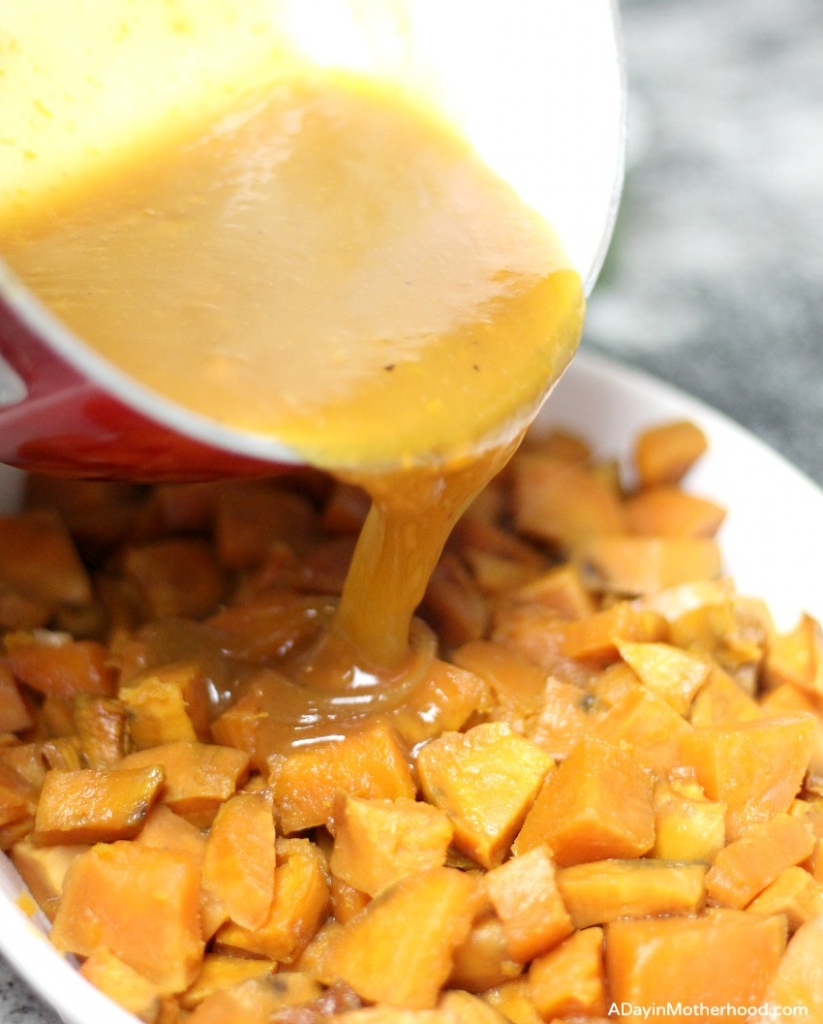 The thick juice makes this Slow Cooker Candied Sweet Potato Recipe sing!