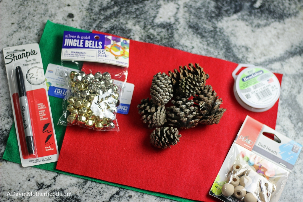 Tools for your Pinecone Elf Ornaments
