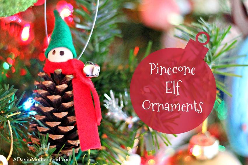 Pinecone Elf Ornaments are fun and festive