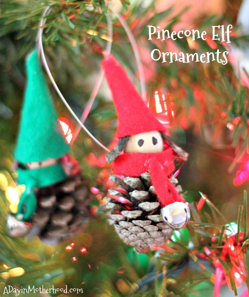 These Pinecone Elf Ornaments are fun and make memories