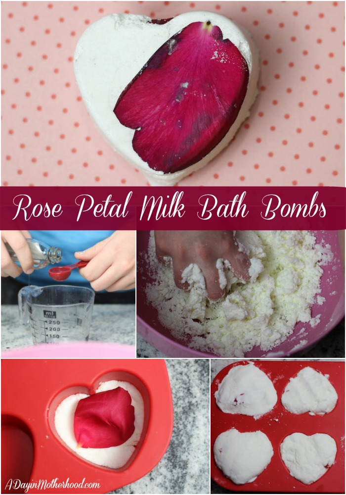 The Rose Petal Milk Bath Bomb Recipe makes in minutes!